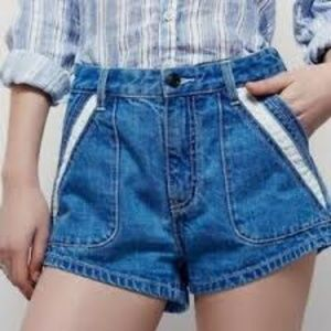 Free People Sweet Surrender High Waist Jean Shorts